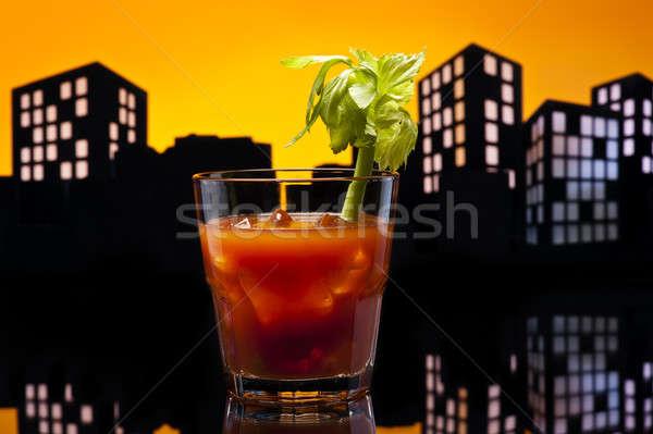 Metropol kanlı kokteyl parti restoran Stok fotoğraf © 3523studio