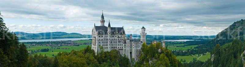 Castle Neuschwanstein with surrounding landscape Stock photo © 3523studio