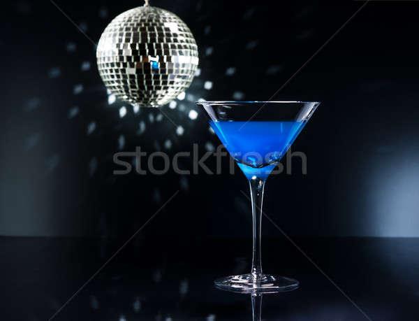Blue Martini cocktail Stock photo © 3523studio