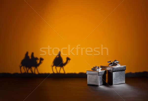 Three wise men and presents Stock photo © 3523studio
