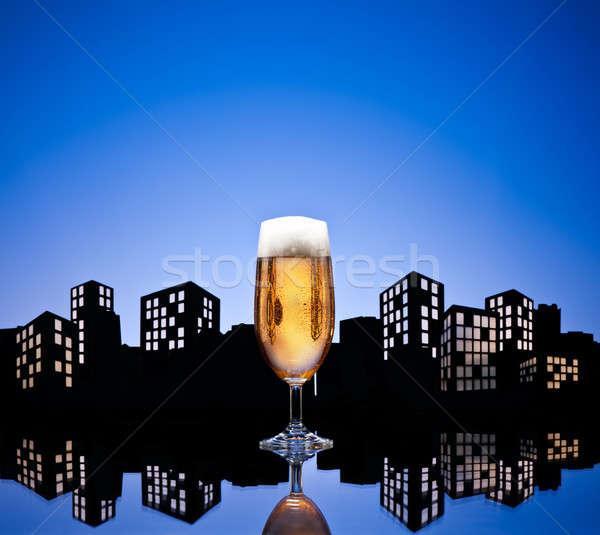 大都市 ビール 色 スカイライン パーティ ストックフォト © 3523studio