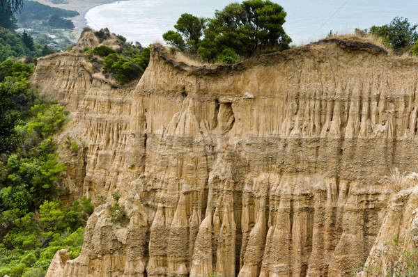 Cathedral cliffs South island of New Zealand Stock photo © 3523studio