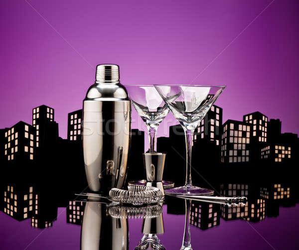 Metropolia barman narzędzia strony restauracji Zdjęcia stock © 3523studio