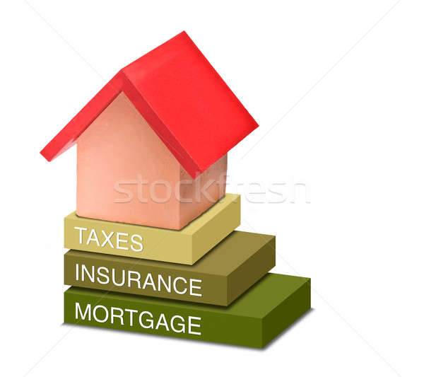 Cost like taxes, insurance and mortgage of a house Stock photo © 3523studio