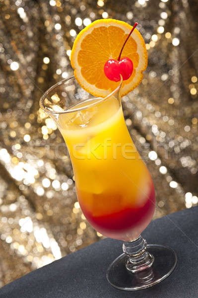 Tequila sunrise cocktail différent horizons Photo stock © 3523studio
