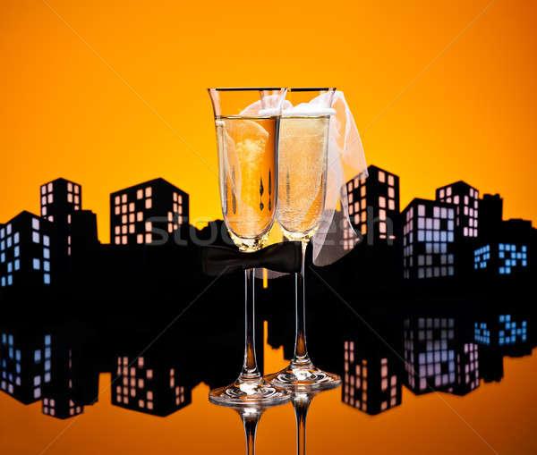 Metropolis Champagne cocktail Lesbian Stock photo © 3523studio