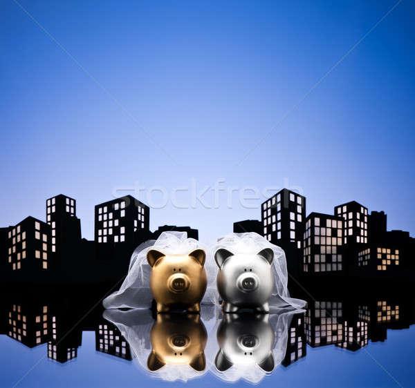 大都市 市 レズビアン 貯金 市民の 組合 ストックフォト © 3523studio
