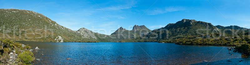 Panorama jezioro dove kołyska górskich tasmania Zdjęcia stock © 3523studio