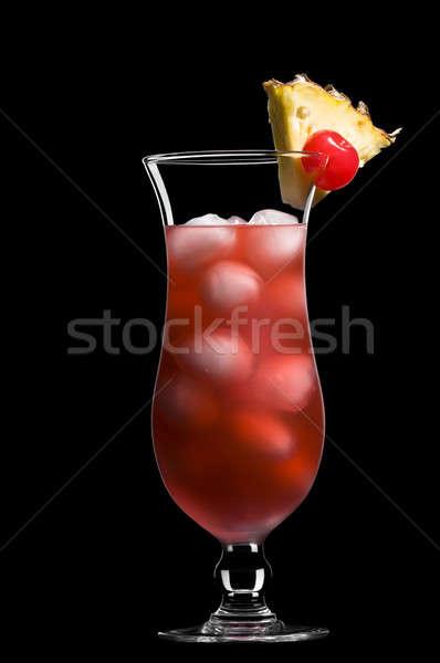 Singapore sling in a beautiful long drink glass Stock photo © 3523studio