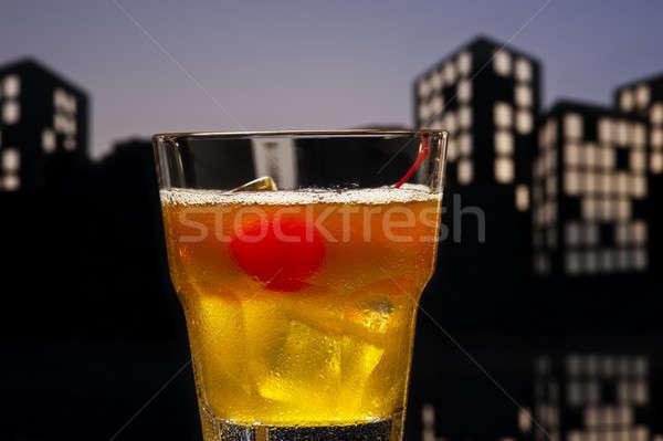 Metropolis cocktail gelukkig vruchten ijs Stockfoto © 3523studio