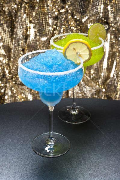 Classic margarita and a blue margarita Cocktail Stock photo © 3523studio