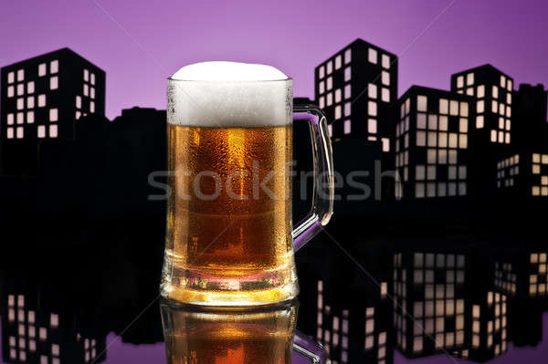 Metropolis lager beer Stock photo © 3523studio
