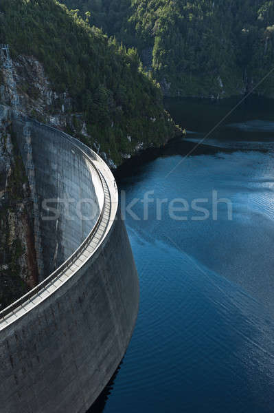 Tasmania montana lago industrial poder Foto stock © 3523studio