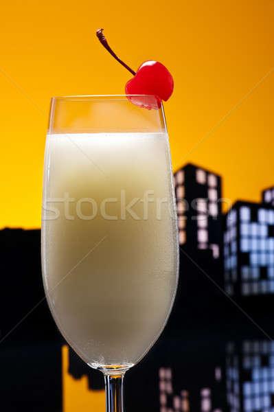 Metropolis Pina colada cocktail Stock photo © 3523studio