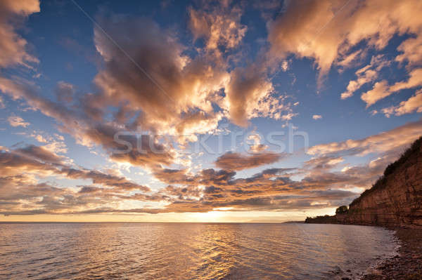 Mer coucher du soleil ciel belle dramatique couleur Photo stock © 3523studio