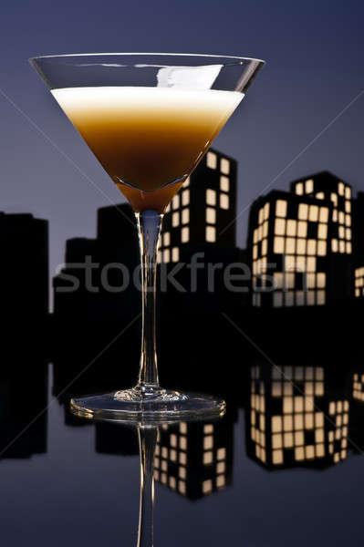 Metropolia kawy martini koktajl świetle Zdjęcia stock © 3523studio