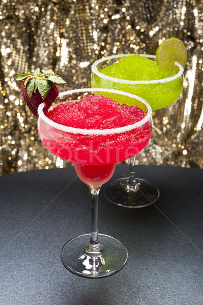 Strawberry and a classic margarita Stock photo © 3523studio