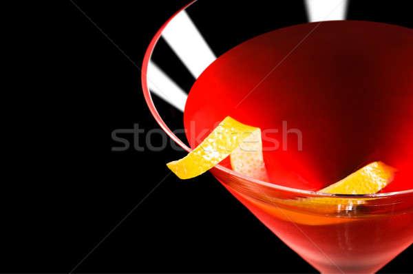 Kozmopolita koktél fekete szép piros szín Stock fotó © 3523studio