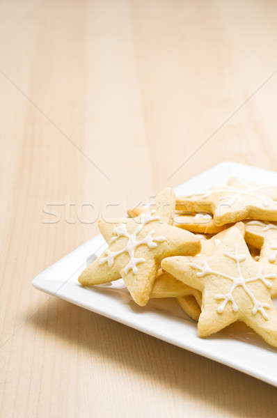 Stock photo: Christmas cookies on a plate
