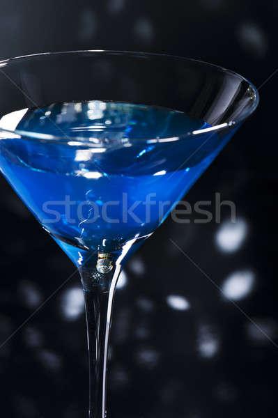 Azul martini coquetel discoteca feliz fruto Foto stock © 3523studio