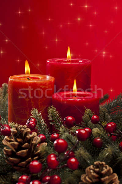 Advent wreath Stock photo © 3523studio