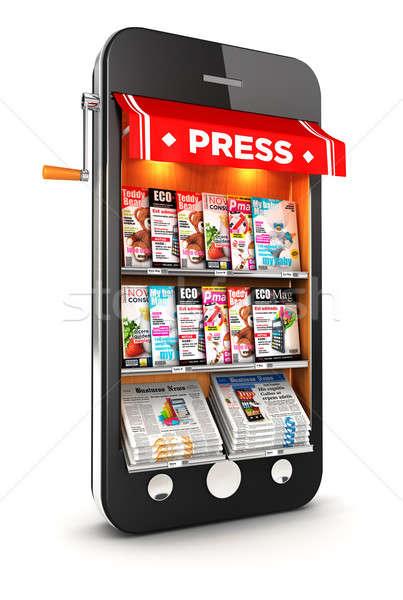 3d newsstand smartphone Stock photo © 3dmask