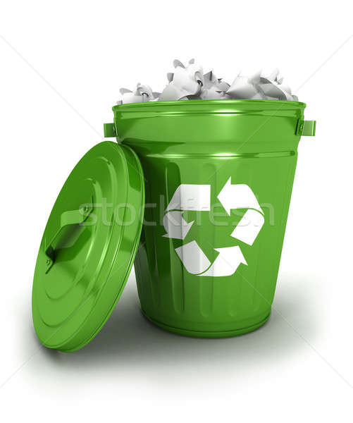 3d recycle trash can Stock photo © 3dmask