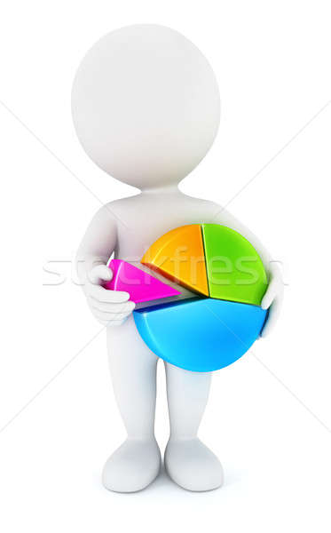 3d white people holding a chart pie Stock photo © 3dmask