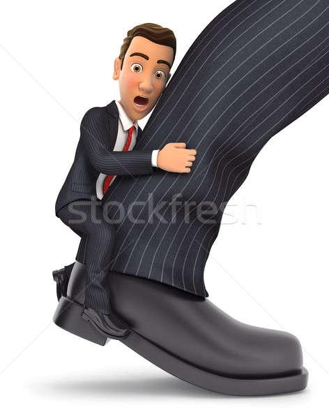 3d businessman clinging to leg Stock photo © 3dmask