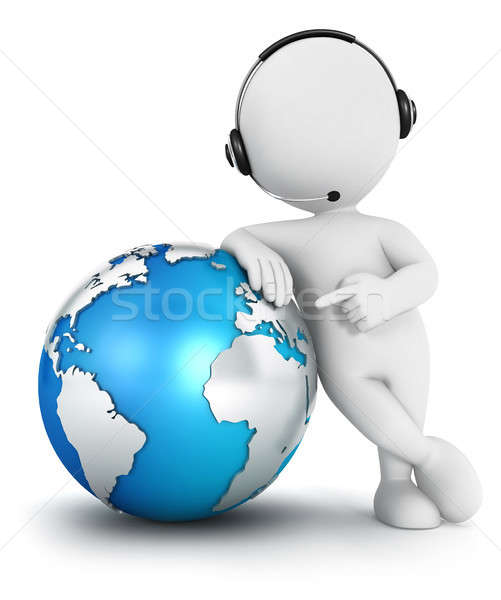 3d white people global communication Stock photo © 3dmask