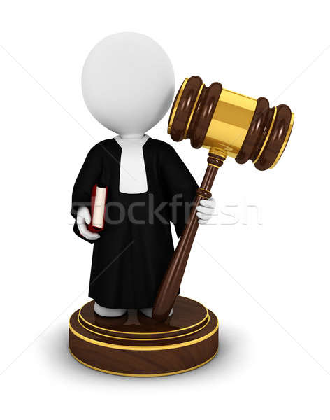 3d white people judge Stock photo © 3dmask