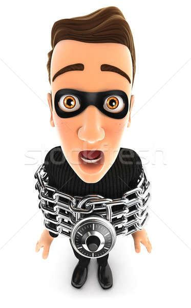 3d thief chained Stock photo © 3dmask