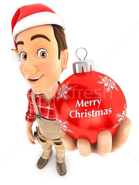 3D ezermester karácsony csecsebecse illusztráció izolált Stock fotó © 3dmask