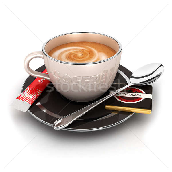 3d cup of coffee Stock photo © 3dmask