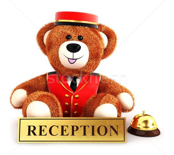 3d teddy bear bellboy Stock photo © 3dmask