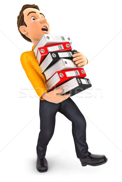 3d man overworked Stock photo © 3dmask