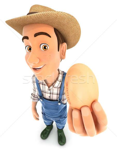 3D 農家 卵 実例 孤立した ストックフォト © 3dmask
