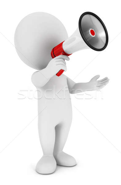 3d white people megaphone Stock photo © 3dmask