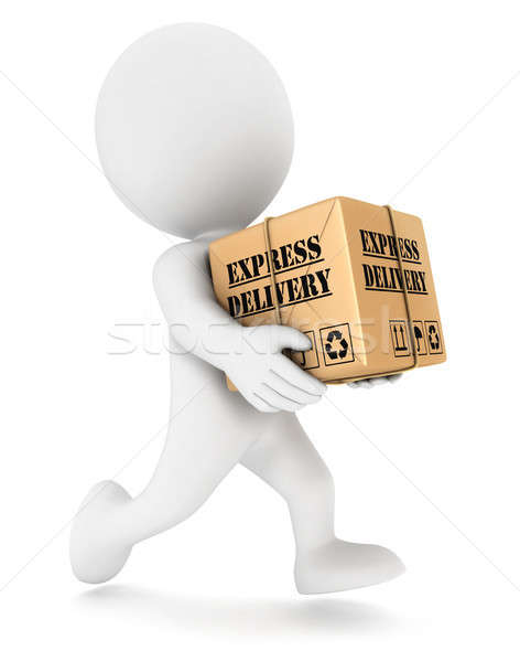 3d white people express delivery Stock photo © 3dmask