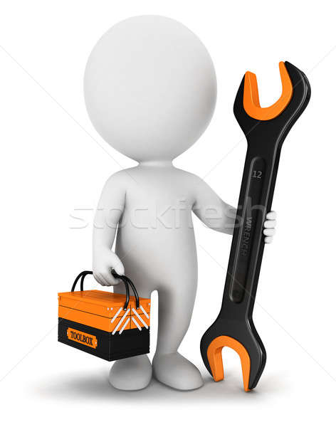 3d white people repairer Stock photo © 3dmask