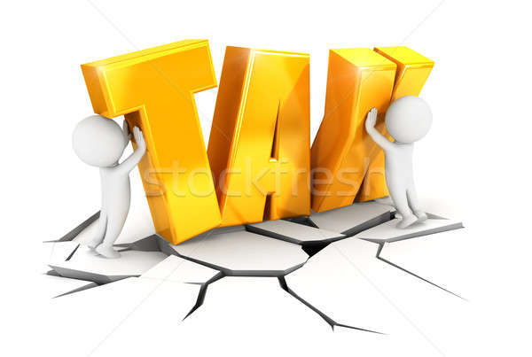 3d white people heavy tax Stock photo © 3dmask