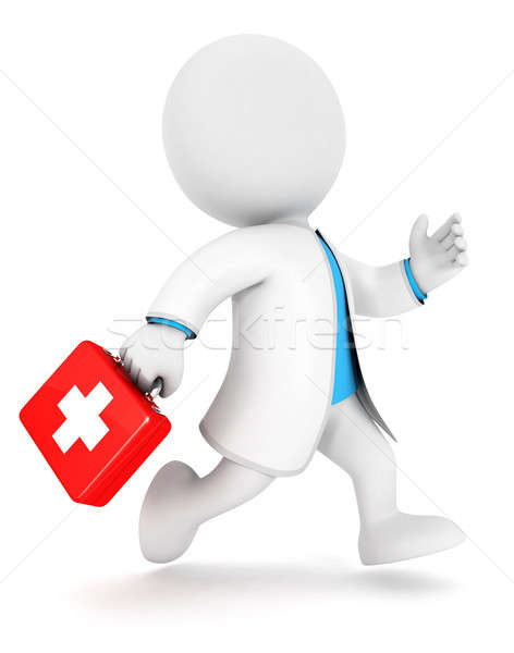 3d white people first aid Stock photo © 3dmask