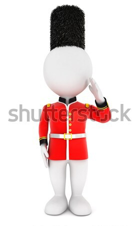 3d white people royal guard Stock photo © 3dmask
