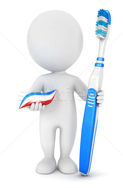 3d white people dental hygiene Stock photo © 3dmask
