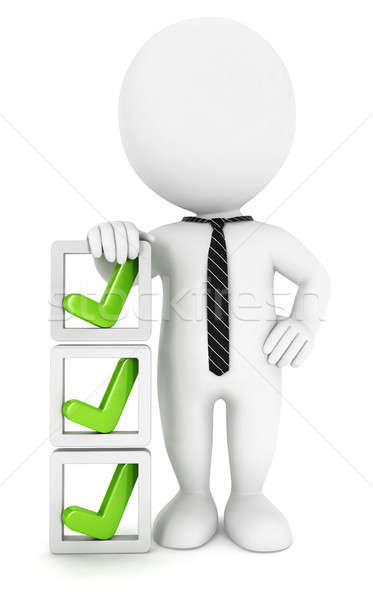 3d white people checklist Stock photo © 3dmask