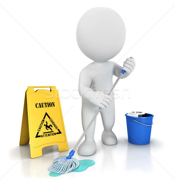 3d white people cleaner Stock photo © 3dmask