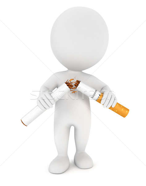 3d white people stopped smoking Stock photo © 3dmask