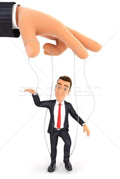 3D бизнесмен марионеточного иллюстрация изолированный белый Сток-фото © 3dmask
