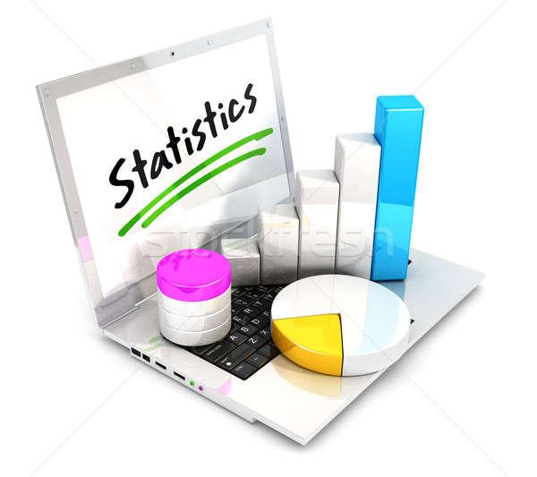 3d laptop statistics Stock photo © 3dmask