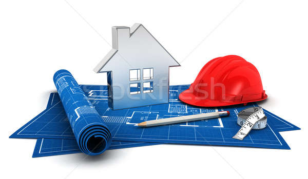 3d house project Stock photo © 3dmask